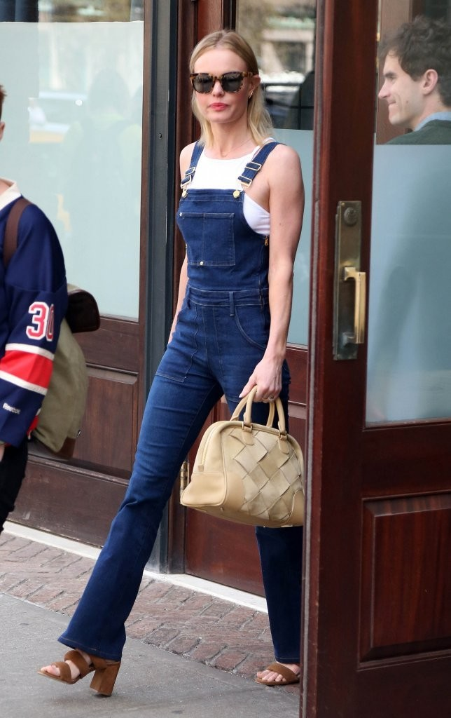 Kate Bosworth Steps Ou... Kate Bosworth Overalls