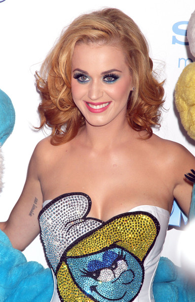 Katy Perry Singer Katy Perry at the world premiere of 'The Smurfs' in New York City, NY.