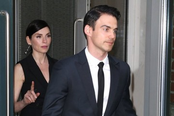 Keith Lieberthal Julianna Margulies Leaving Her Apartment in New York City