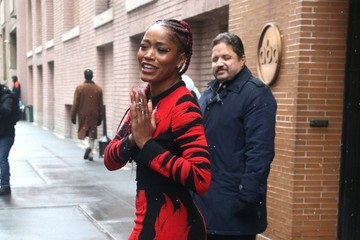 Keke Palmer Celebrities Visit 'The View' in New York City