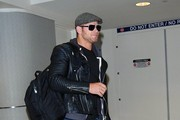 Kellan Lutz Touches Down At LAX