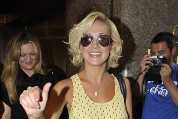 Kellie Pickler Stars Leave the NBC Studios