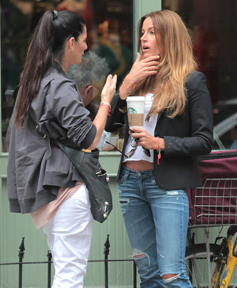 Kelly Bensimon Chatting With A Friend In New York