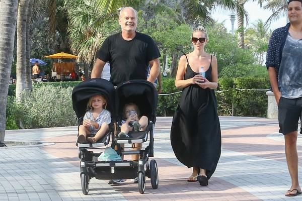 Kelsey Grammer & Family Go to the Beach in Miami