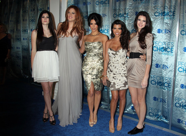 Kendall Jenner Celebrities arriving at the 2011 People's Choice Awards at the Nokia Theatre in Los Angeles, CA.