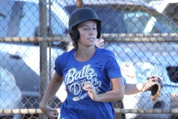Kendra Wilkinson Kendra Wilkson Hits a Home Run During Her Softball Game