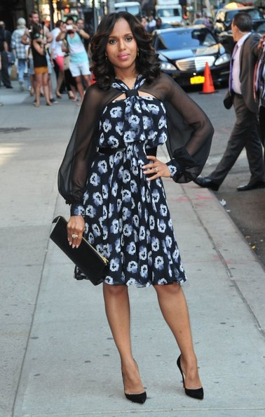 Kerry Washington - Celebs Drop by 'Letterman'