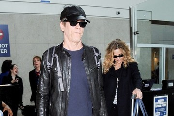 Kevin Bacon Kevin Bacon and Kyra Sedgwick Arrive to LAX