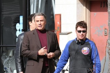 Kevin Connolly John Travolta Performs on the Set of 'The Life & Death of John Gotti'