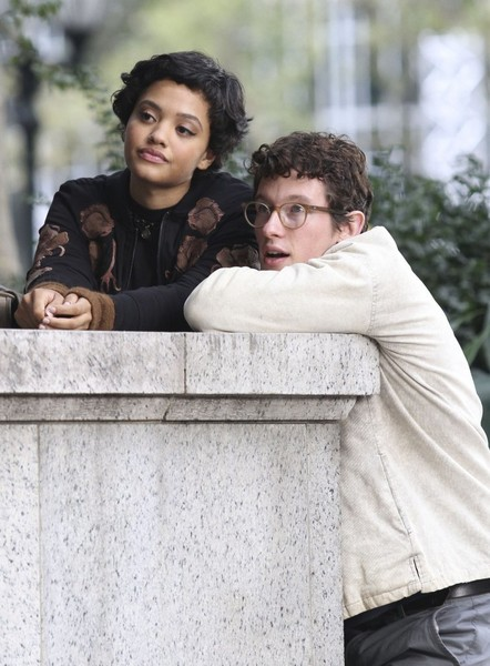 Kiersey clemons and callum turner film the only living boy in new kiersey clemons and callum turner film the only living boy in new york in sciox Image collections