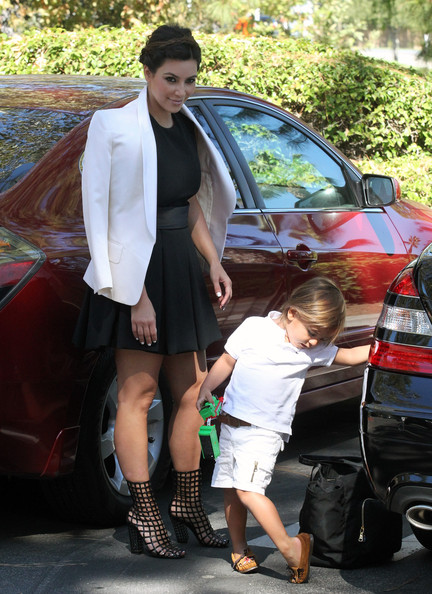 Kim And Kourtney attend Sunday Service With The Children