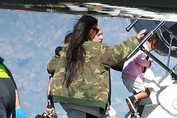 Kim Kardashian North West The Kardashian Family Catches a Private Jet Out of Town