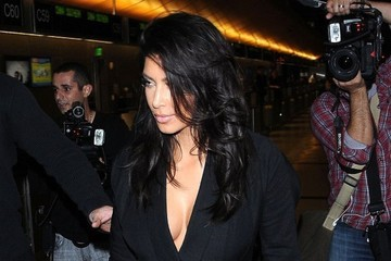 Kim Kardashian Kim Kardashian Departing On A Flight At LAX