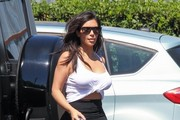Kim Kardashian Visits Bunim Murray