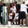 D'Lila Combs Kim Porter And Family Out And About In St. Barts