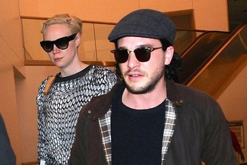 Kit Harington Gwendoline Christie 'Game Of Thrones' Cast Arriving on a Flight at LAX