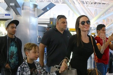 Knox Jolie-Pitt Angelina Jolie Arrives In NYC