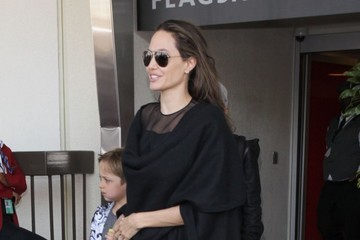 Knox Jolie-Pitt Angelina Jolie and Her Children Arrive at LAX Airport