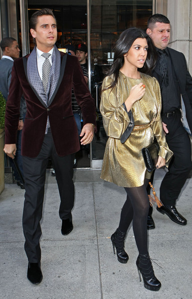 Kourtney Kardashian Kourtney Kardashian and Scott Disick leave the Smyth Hotel in New York City, NY.