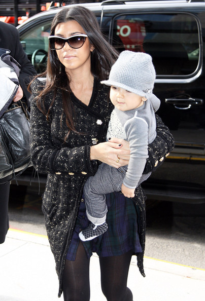 Kourtney Kardashian - Kourtney Kardashian And Son Mason Returning To Their Hotel In New York