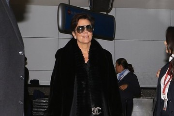 Kris Jenner Kim Kardashian Touches Down In Los Angeles