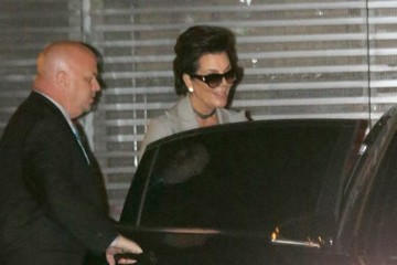 Kris Jenner Kris Jenner Arrives With Scott Disick At Nobu