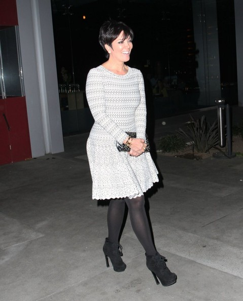 """Keeping Up with the Kardashians"" star Kris Jenner enjoys dinner at BOA Steakhouse on February 26, 2013 in West Hollywood, California."