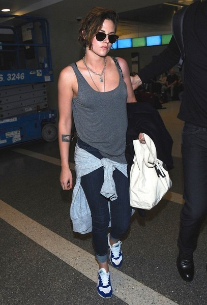 Kristen Stewart Arrives at LAX