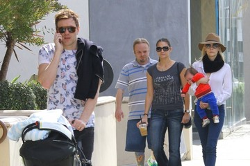 Kyle Newman Jaime King & Family Out For Breakfast At Alfred Coffee & Kitchen