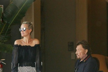 Laeticia Hallyday Johnny And Laeticia Hallyday Have Dinner At Cecconi's