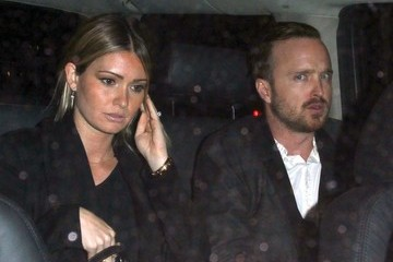 Lauren Parsekian Aaron Paul and His Wife Enjoy a Night Out