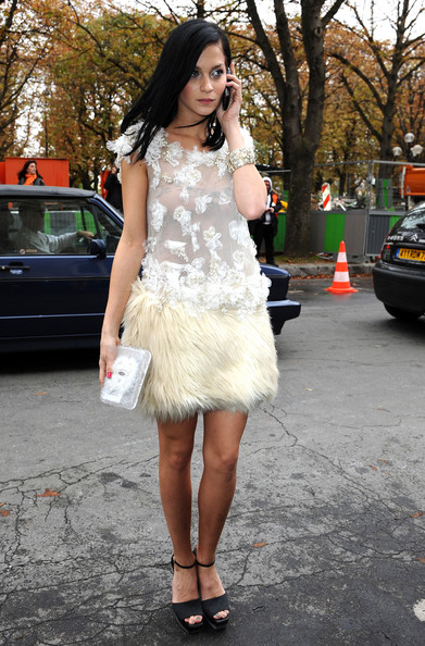 Leigh Lezark Celebrities arrive at the Chanel fashion show during Paris Fashion Week Spring/Summer 2011.
