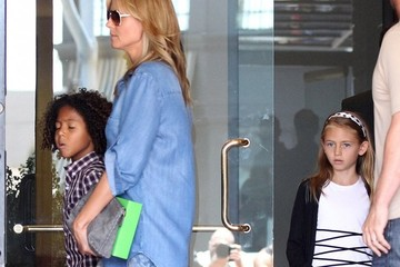 Leni Samuel Heidi Klum Takes Her Kids Out For Lunch