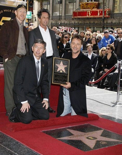 Russell Crowe Honored With A Star On The Hollywood Walk Of Fame