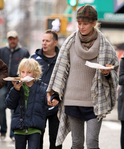 Photo of Uma Thurman & her Son  Levon Roan Thurman-Hawke