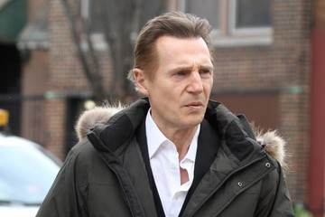 Liam Neeson Stars Filming 'Inside Amy Schumer' in NYC