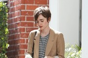 Lily Collins Leaving Reese Witherspoon's Office