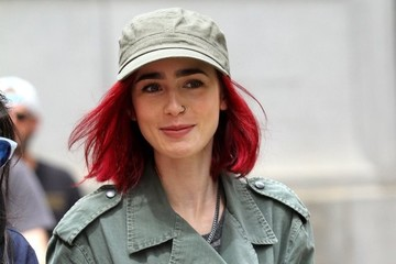 Lily Collins Lily Collins Performs on the Set of 'Okja' in NYC