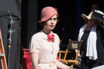 Lily Collins Lily Collins and Matt Bomer Perform on the Set of 'The Last Tycoon'