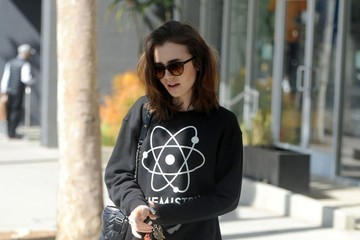 Lily Collins Lily Collins Gets In A Morning Workout In Los Angeles