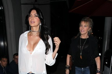 Lisa Gastineau Celebs Dine Out at The Nice Guy