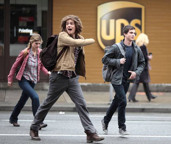 Logan Lerman - Stars On The Set Of 'Percy Jackson: Sea Of Monsters'