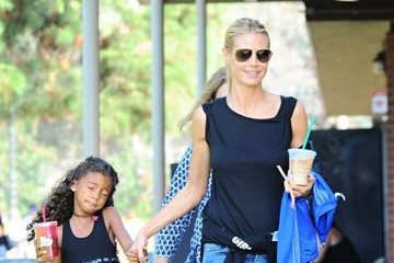 Lou Samuel Heidi Klum Goes out in Brentwood