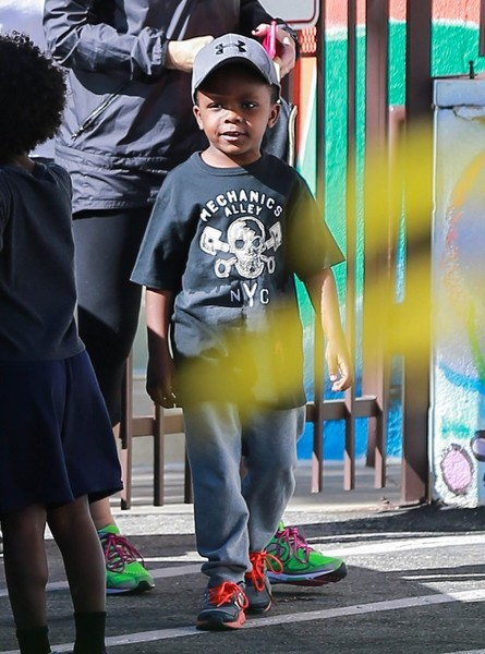 Sandra Bullock Out and About with Her Son