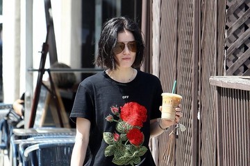 Lucy Hale Lucy Hale Stops By Starbucks In Studio City