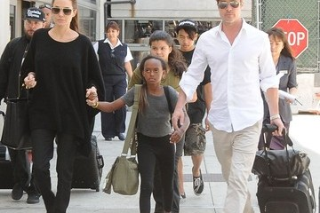 Maddox Jolie-Pitt The Jolie-Pitt Family Arriving On A Flight At LAX