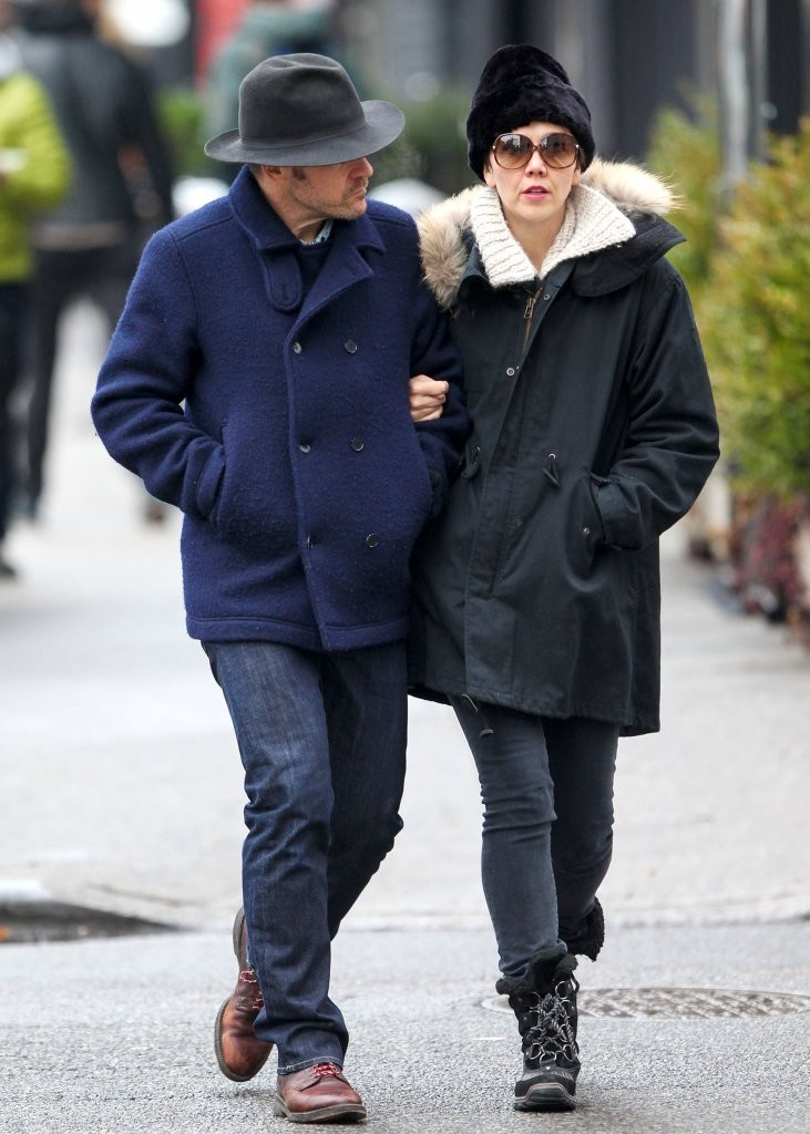 Maggie Gyllenhaal and Peter Sarsgaard Bundle Up