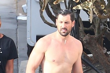 Maksim Chmerkovskiy Celebs Are Seen at the 'Dancing With the Stars' Set