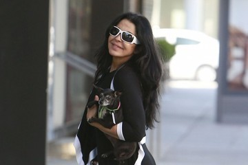 Maria Conchita Alonso Maria Conchita Alonso Walking With Her Dog