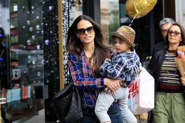 Maria Joao Jordana Brewster & Family Enjoy A Day Shopping In Beverly Hills